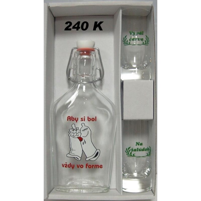 Ploskačka+2ks pohárov kondóm