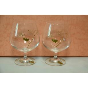 12  Svadobné poháre ručne zdobené