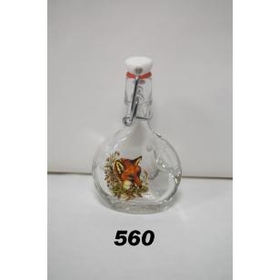 Fľaša 40ml poľovnícky motív hlavy