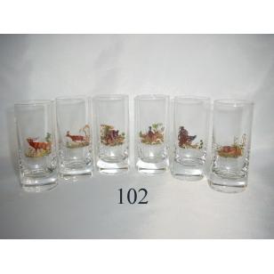 60ml poháre poľ motív
