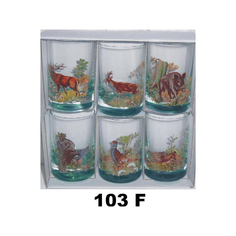 100 ml poháre poľ motív farba