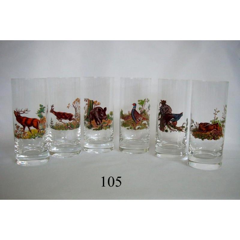 3dl poháre poľ motív