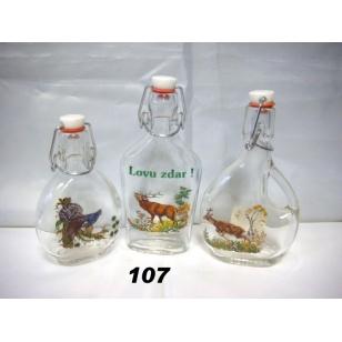 Fľaša 2 dl poľovnícky motív