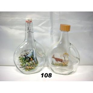 Fľaša 5dl poľovnícky motív