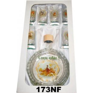 Flaša slivovica s pohármi