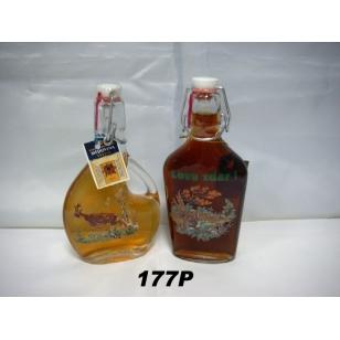 Fľaša 2dl plnená medovinou poľovnícky motív