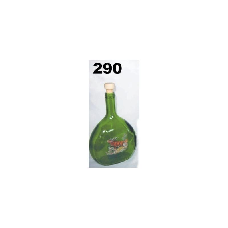 Fľaša tmavá 750ml poľ motív