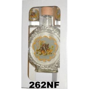 Fľaša slivovica 2ks pohárov poľovnícky motív reliéf