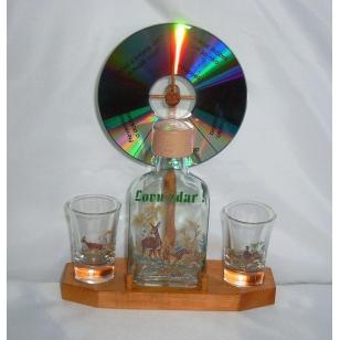 Fľaša 2kspohárov koleso poľ motív